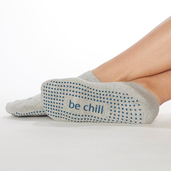 Be Chill Grip Socks (Heather/Teal)