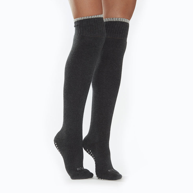 Be Chill Knee High Socks (Charcoal/Grey)