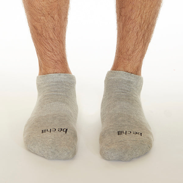 MENS Be Chill Grip Socks (Heather/Black)