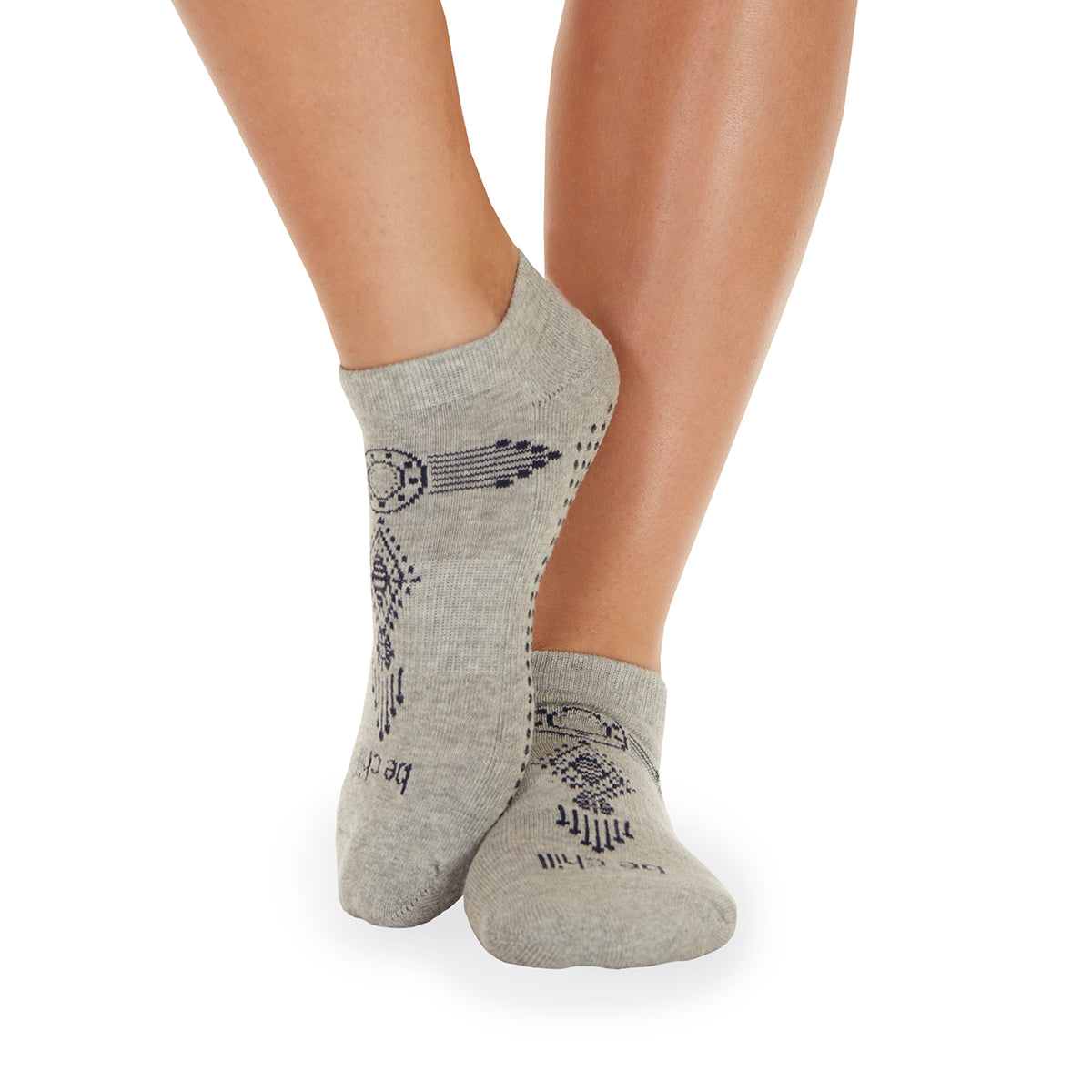 Be Chill Henna Grip Socks (Heather Grey)