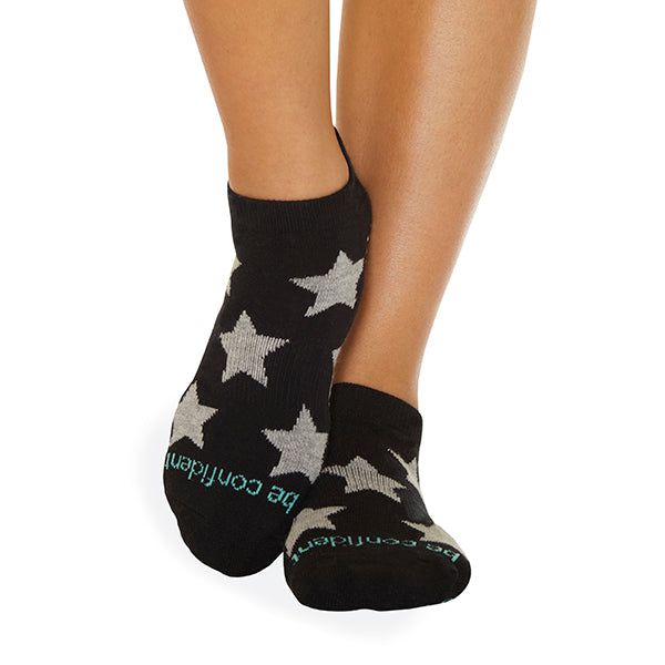 NEW Be Confident Grip Socks (Black/Heather Stars)