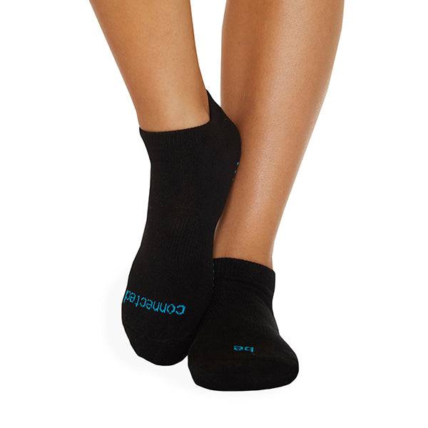 Be Connected Grip Socks (Black/Turquoise)