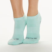 Be Fearless Grip Socks (Aqua/Navy)