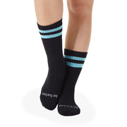 CREW Be Fearless Grip Socks (Black/Aqua)