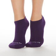 Be Focused Grip Socks (Eggplant/White)