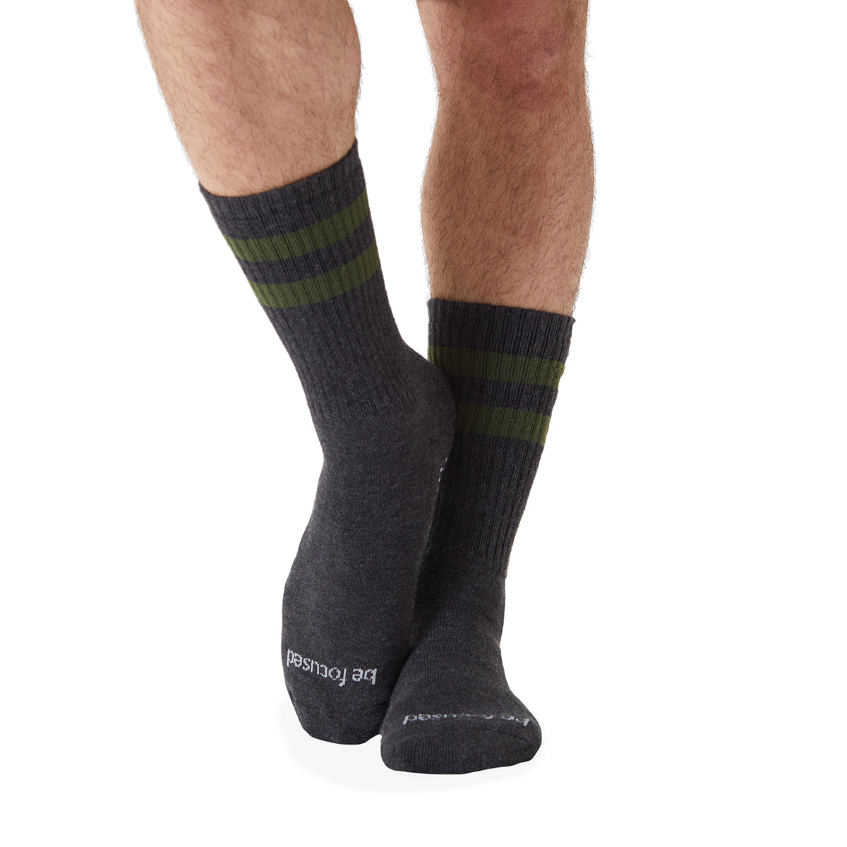 MENS CREW Be Focused Grip Socks (Charcoal/Hunter)
