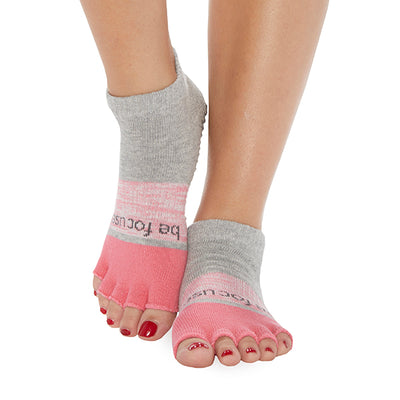 NEW HALF TOE Be Focused Elle Grip Socks (Poppy)