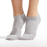 Be Grateful Grip Socks (Stone Grey/White)