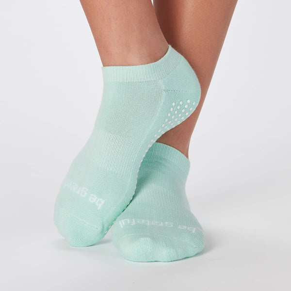 Be Grateful Grip Socks (Mist/White)