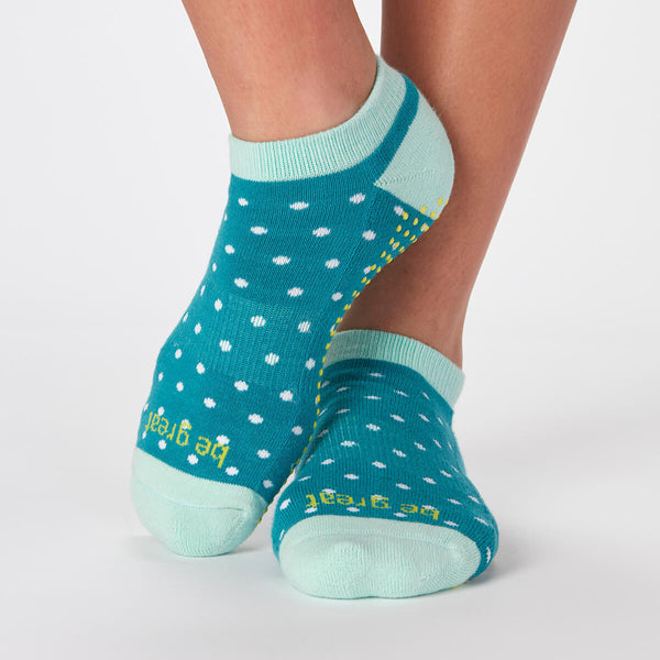 Be Great Reece Polka-Dot Grip Socks (Ivy)