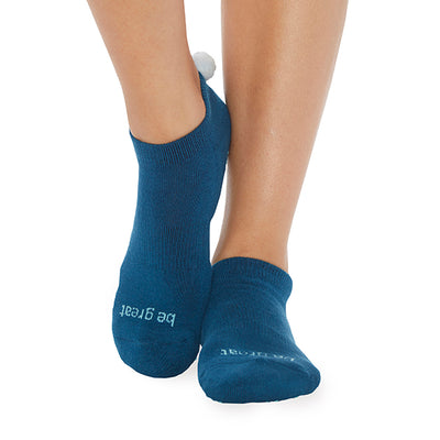 NEW POM POM Be Great Grip Socks (Teal/Sky)