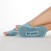 NEW HALF TOE Be Great Grip Socks (Mist)