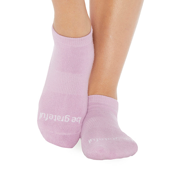 NEW Be Grateful Grip Socks (Lilac/White)