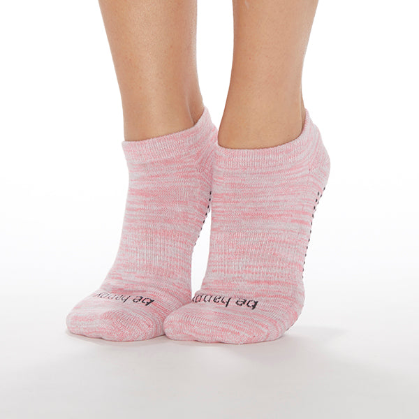 NEW Be Happy Marbled Grip Socks (Rose)