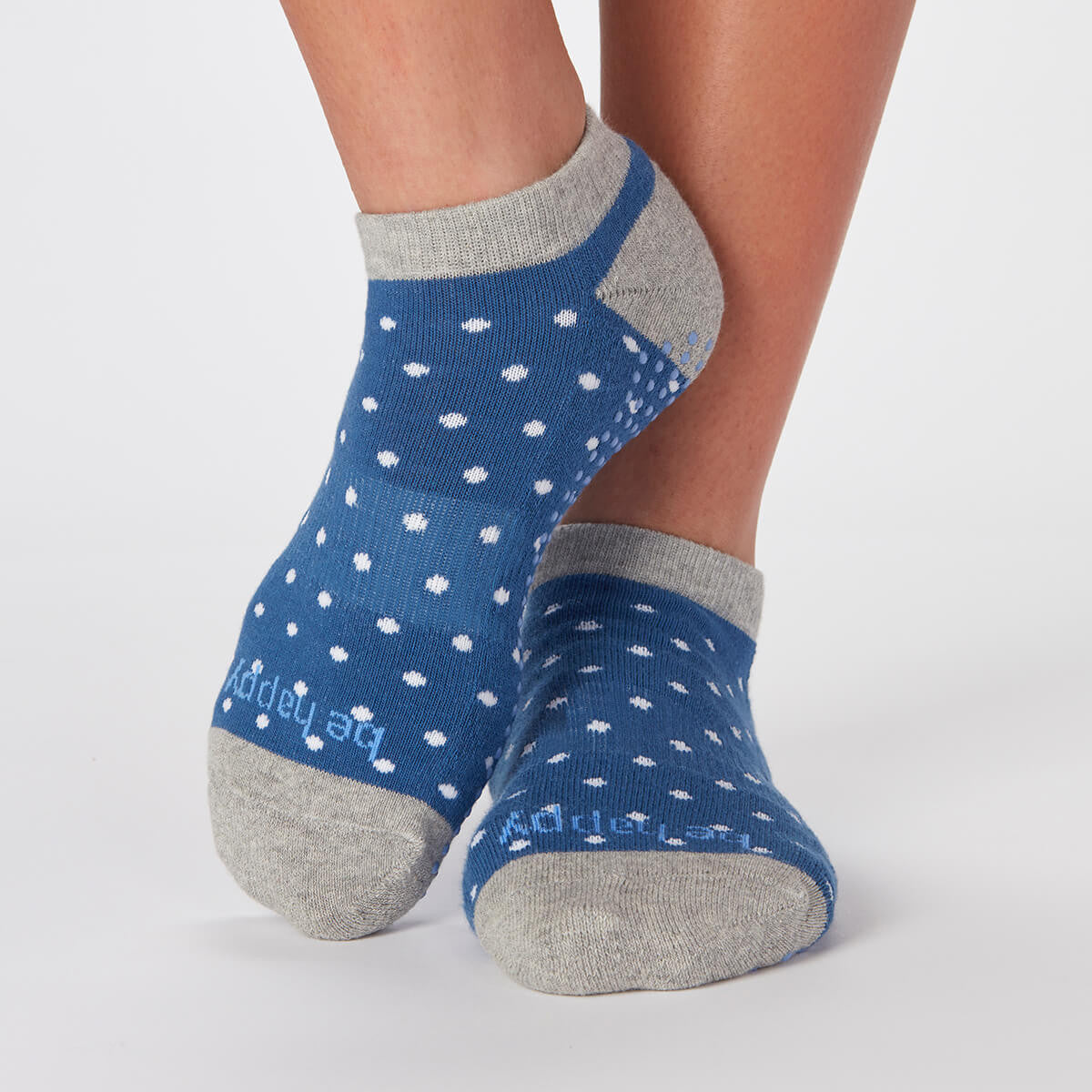 Be Happy Reece Polka-Dot Grip Socks (Lake)