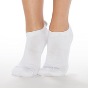 POM POM Be Happy **NO GRIP** Socks (White/Grey)