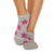 Be Happy Grip Socks (Heather/Punch Stars)