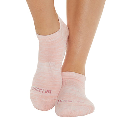Be Happy Marbled Grip Socks (Apricot)