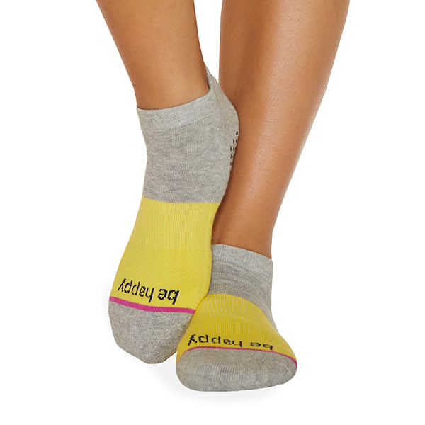 Be Happy Grace Grip Socks (Honey)