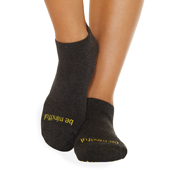 NEW Be Mindful Grip Socks (Charcoal/Maize)