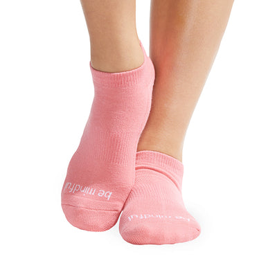 NEW Be Mindful Grip Socks (Melon/White)
