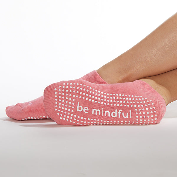 Be Mindful Grip Socks (Melon/White)