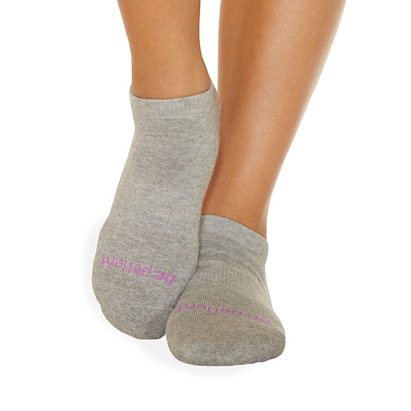 Be Patient Grip Socks (Heather/Punch)