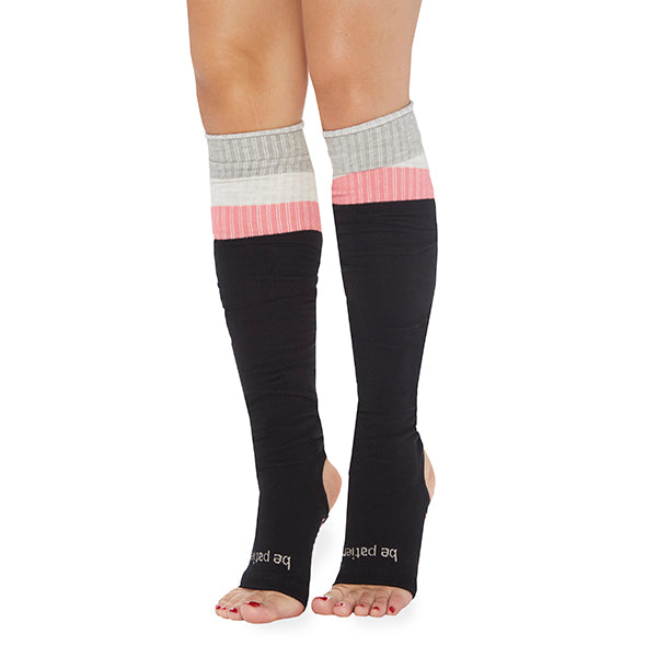NEW Be Patient Stirrup Grip Leg Warmers (Black/Melon)