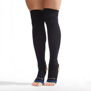Be Positive Stirrup Grip Leg Warmers (Black/Teal)