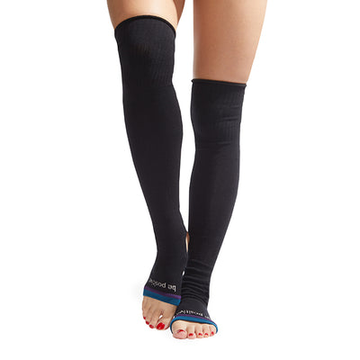 NEW Be Positive Stirrup Grip Leg Warmers (Black/Teal)