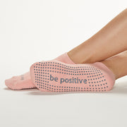 Be Positive Grip Socks (Powder/Grey)