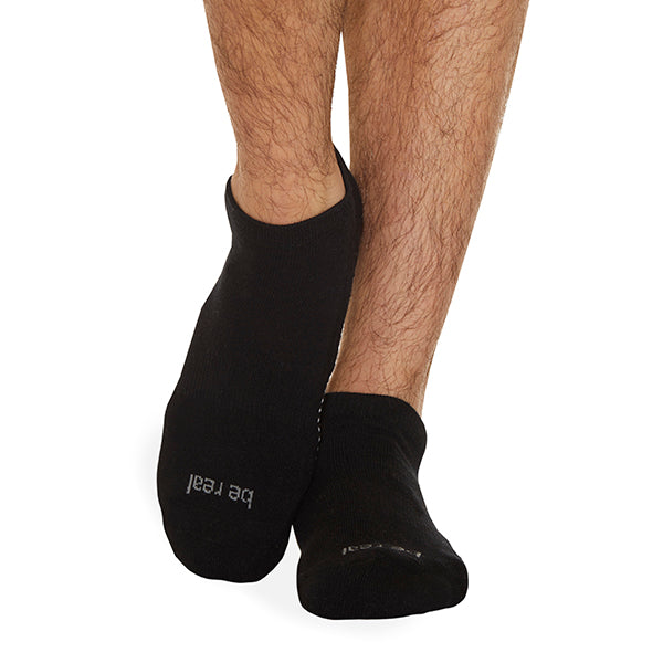 NEW MENS Be Real Grip Socks (Black/Steel)