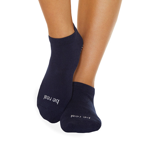 Be Real Grip Socks (Navy/White)