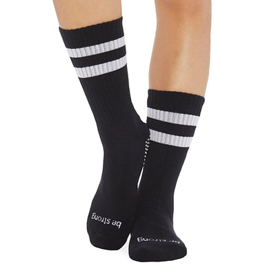 NEW CREW Be Strong Grip Socks (Black/White)