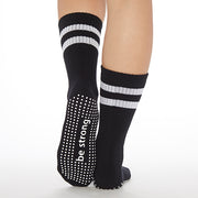 CREW Be Strong Grip Socks (Black/White)