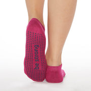 NEW Be Strong Grip Socks (Raspberry/Navy)