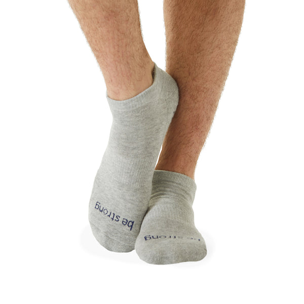 NEW MENS Be Strong Grip Socks (Grey/Navy)