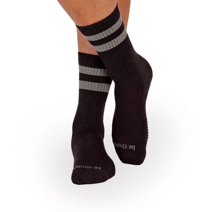 MENS CREW Be Strong Grip Socks (Black/Slate)