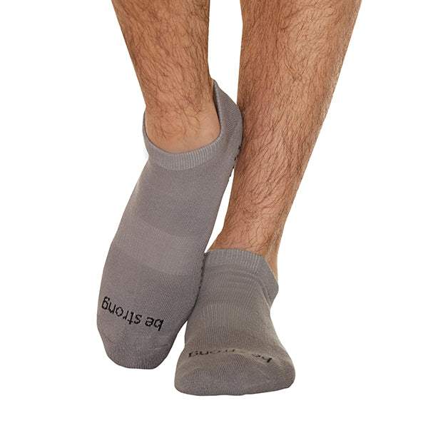 MENS Be Strong Grip Socks (Steel/Black)
