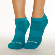 Be Strong Grip Socks (Aruba/White)