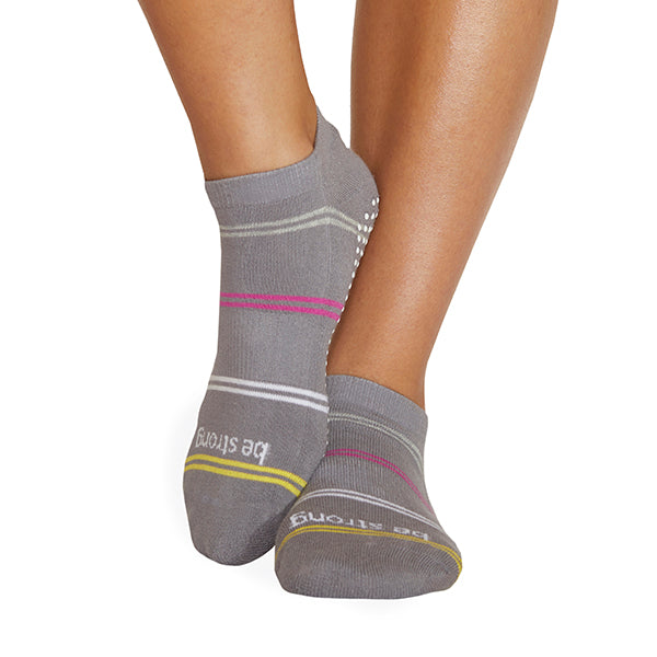 NEW Be Strong Harper Grip Socks (Dove)