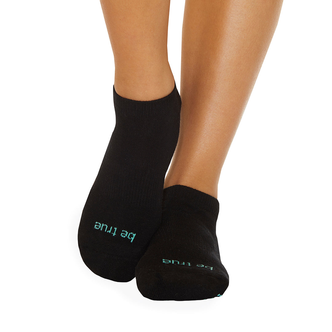 Be True Grip Socks (Black/Seafoam)