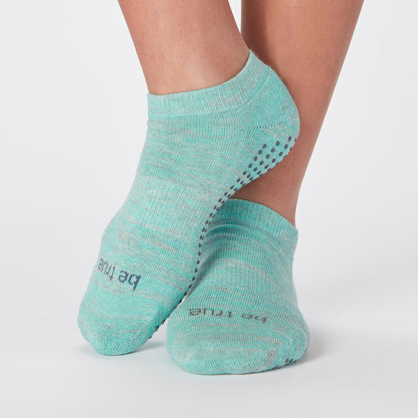 Be True Grip Socks (Heather Marine)