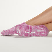Be You Marbled Grip Socks (Begonia)