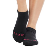 Be Strong Grip Socks (Black/Pink)