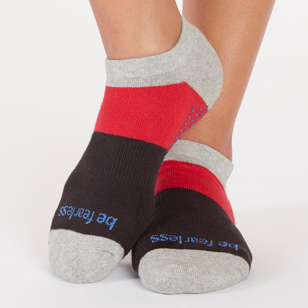 Be Fearless Dylan Colorblock Grip Socks (Capri)