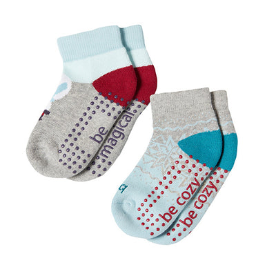 Toddler Holiday 2 Pack Grip Socks 2T-4T (FROSTY)