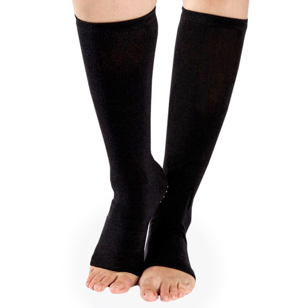 SALE Lightweight Leg Warmers With Grip (Black/White)