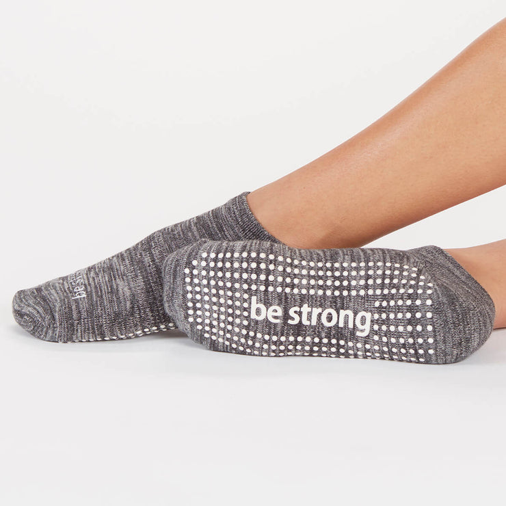 Be Strong Marbled Grip Socks (Ash)