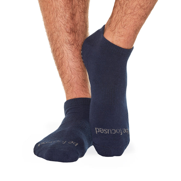 MENS Be Focused Grip Socks (Navy/Grey)